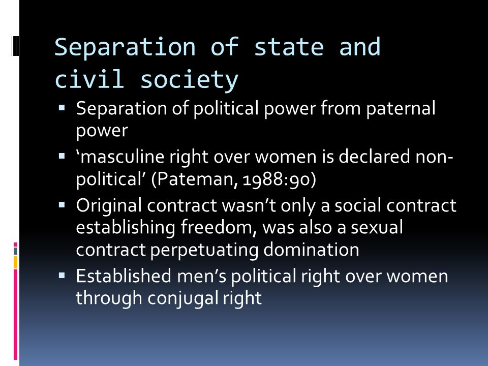 Separation of state and civil society