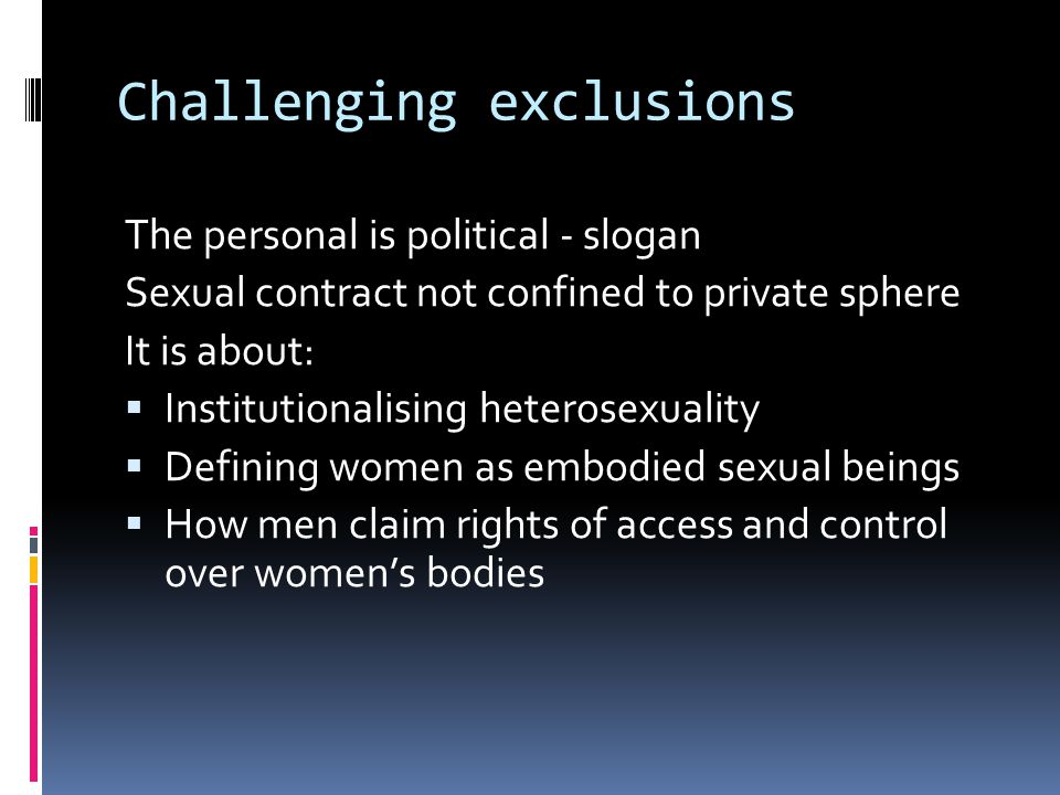 Challenging exclusions