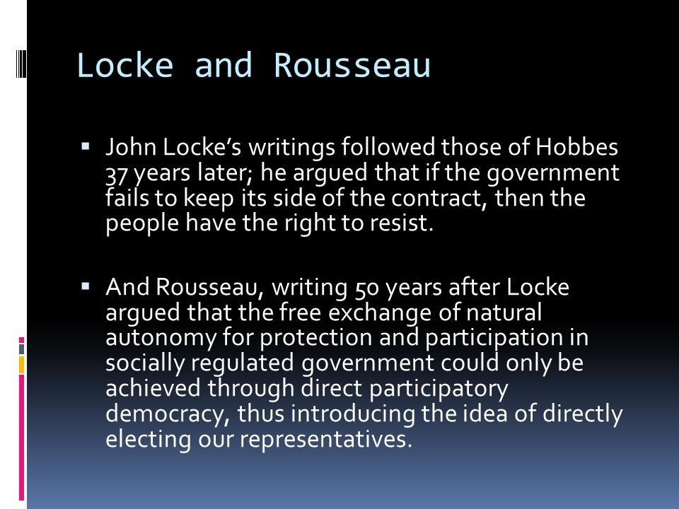 Locke and Rousseau