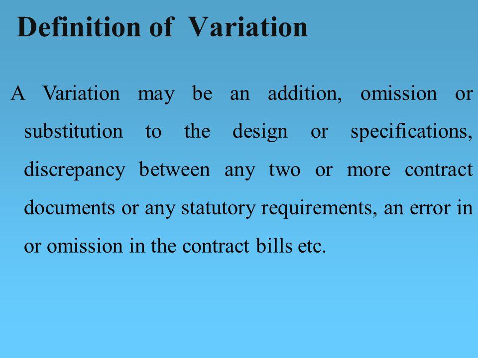 Definition of Variation