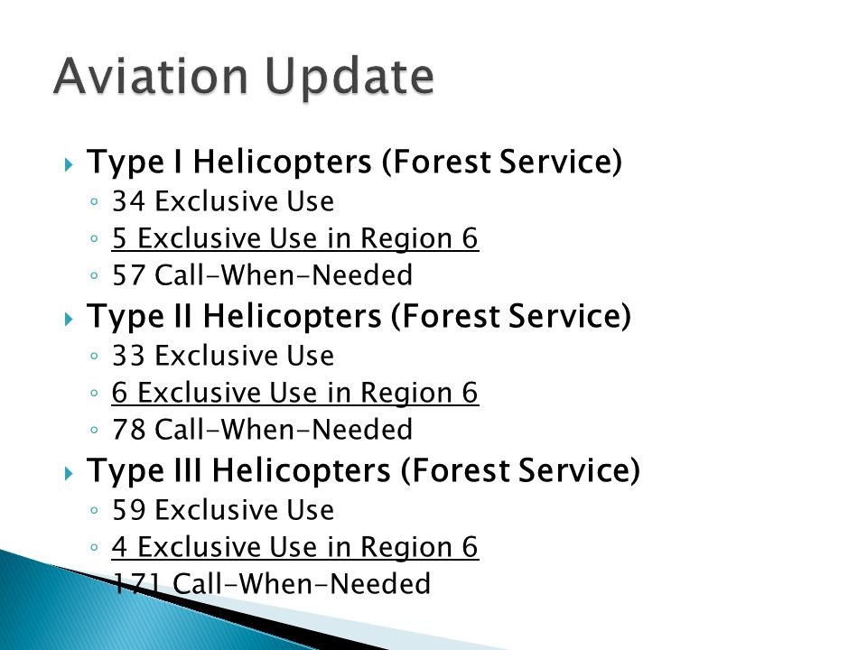 Aviation Update Type I Helicopters (Forest Service)