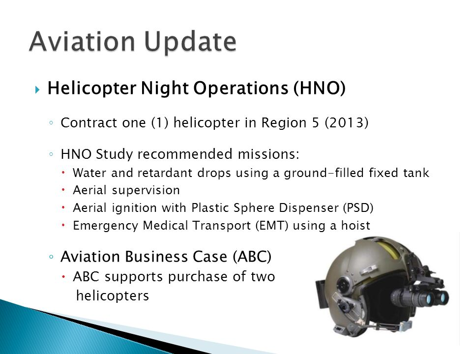 Aviation Update Helicopter Night Operations (HNO)
