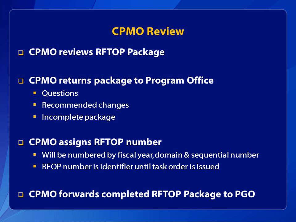 CPMO Review CPMO reviews RFTOP Package