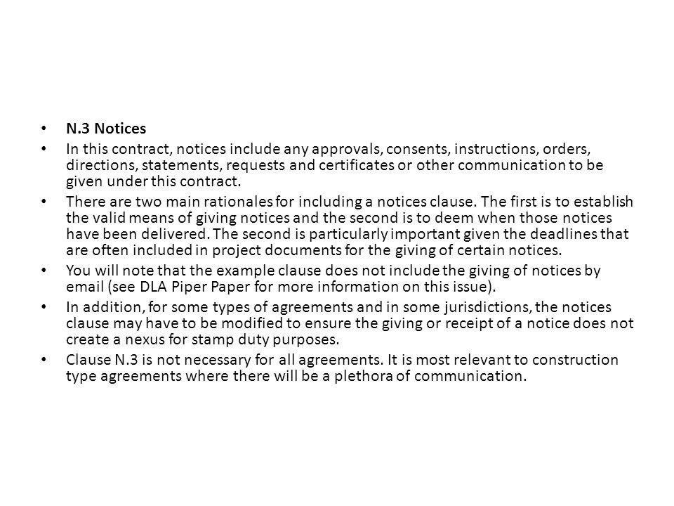 N.3 Notices