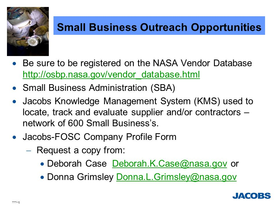 Small Business Outreach Opportunities
