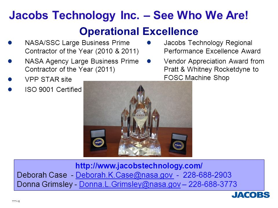 Jacobs Technology Inc. – See Who We Are!