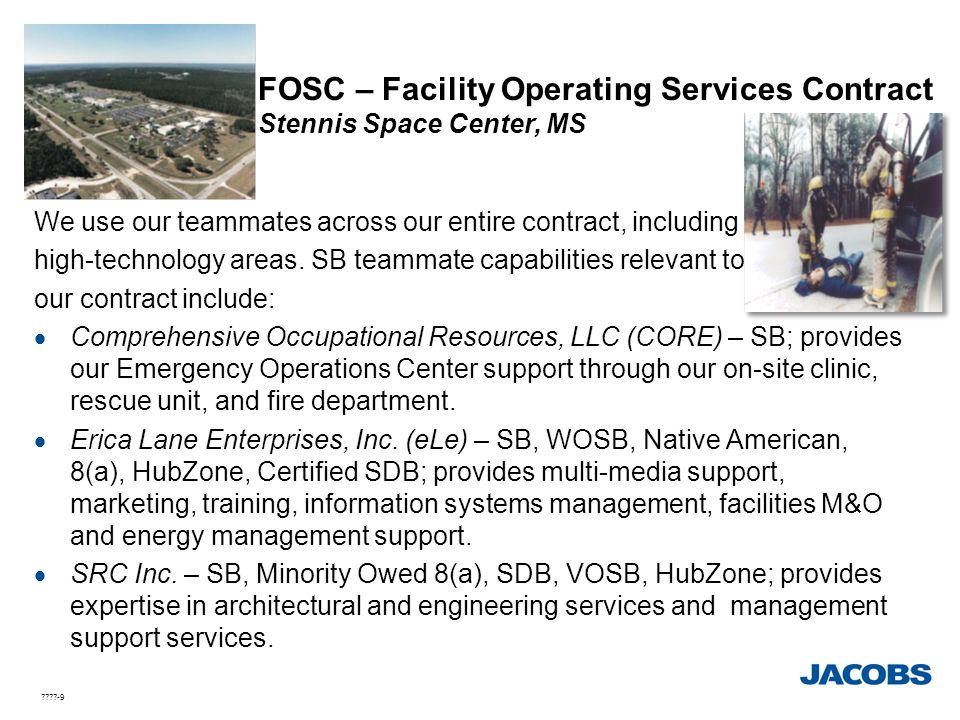 FOSC – Facility Operating Services Contract Stennis Space Center, MS