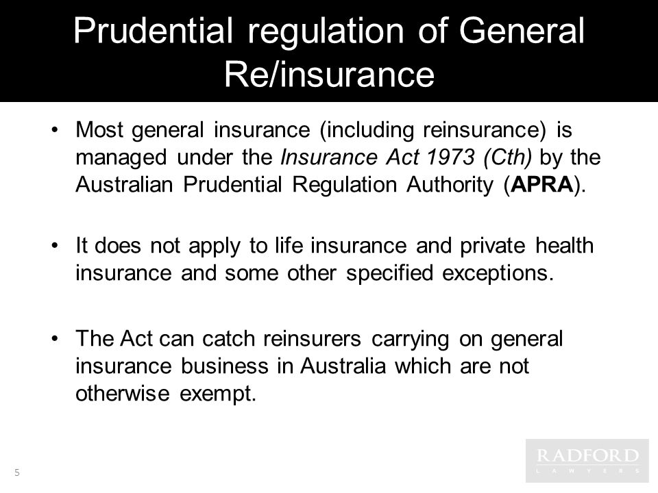 Prudential regulation of General Re/insurance