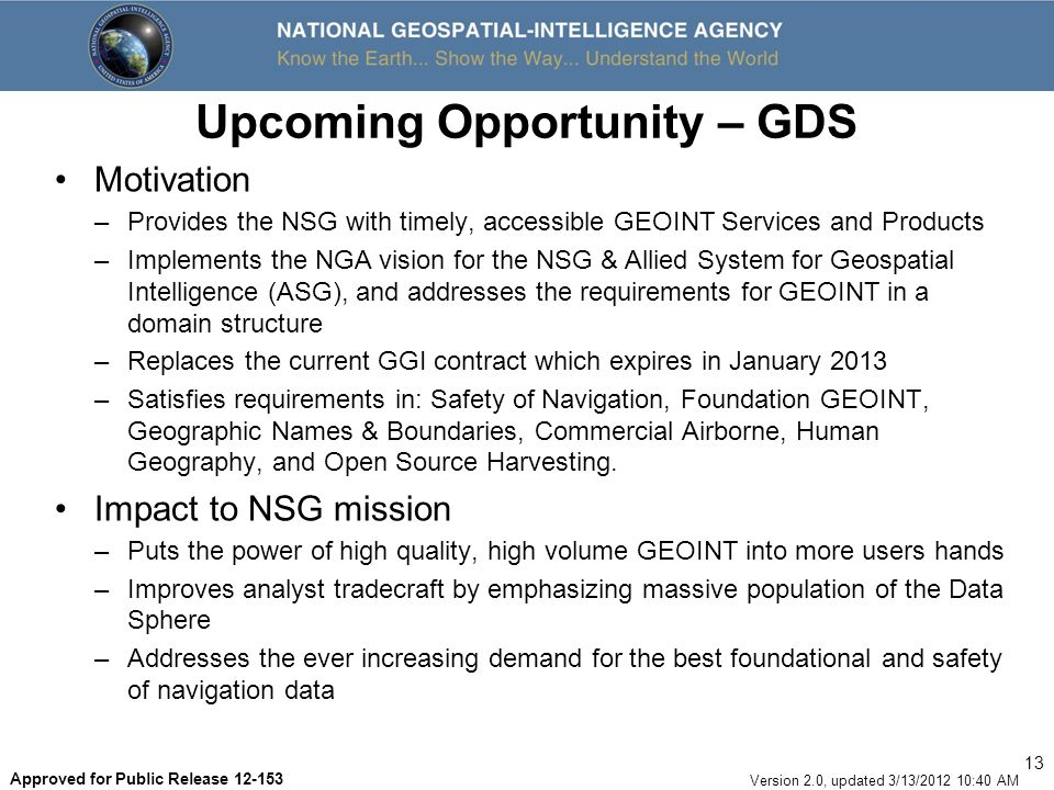 Upcoming Opportunity – GDS