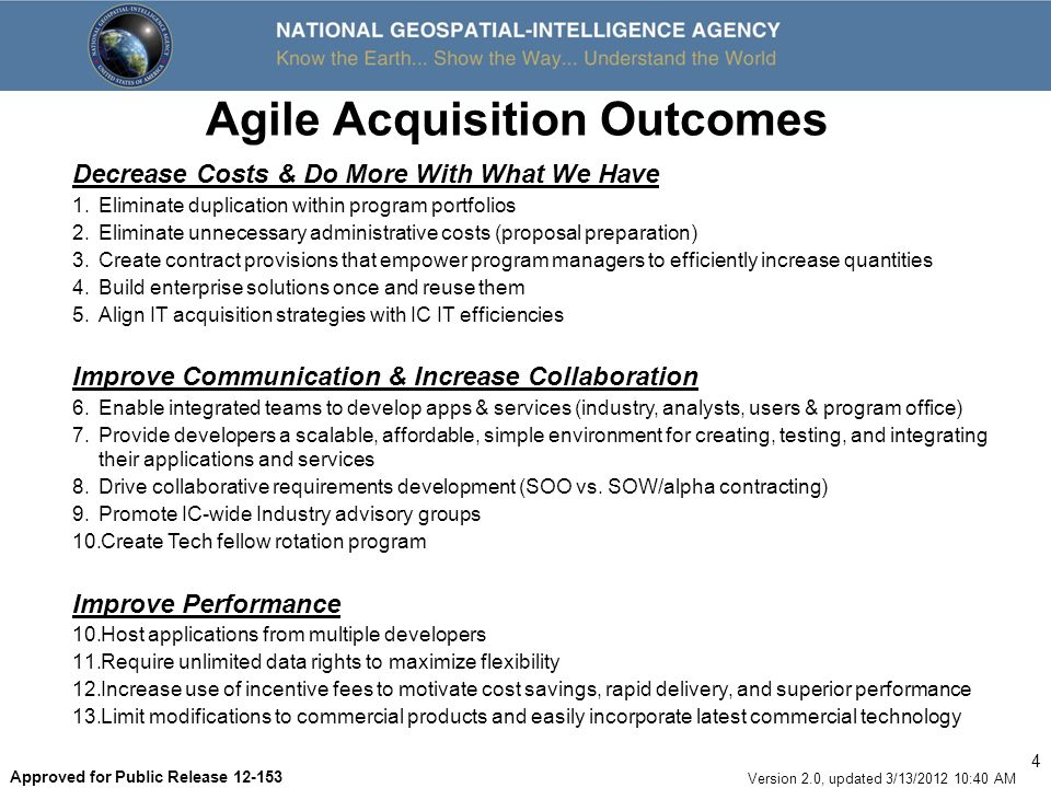 Agile Acquisition Outcomes