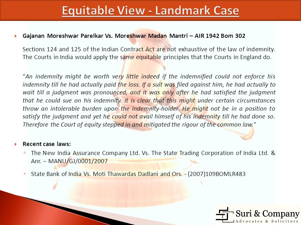 Equitable View - Landmark Case