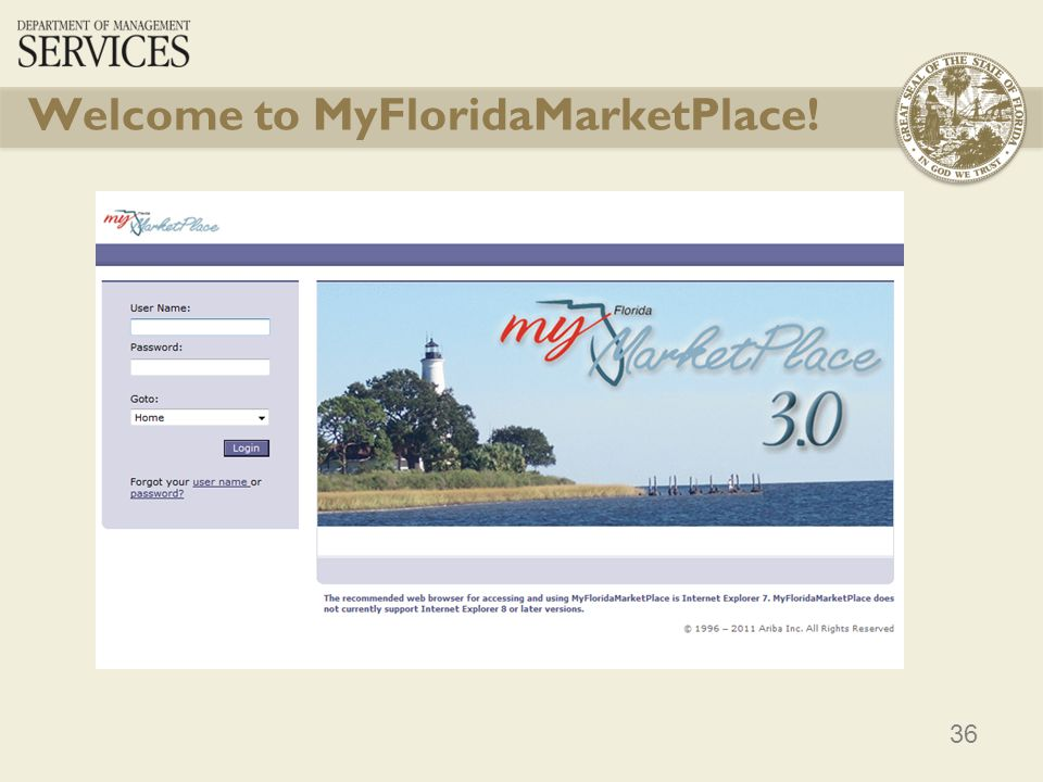 Welcome to MyFloridaMarketPlace!