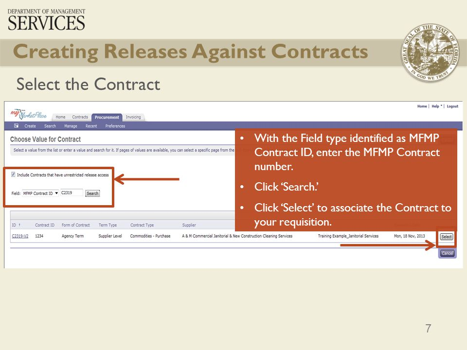 Creating Releases Against Contracts