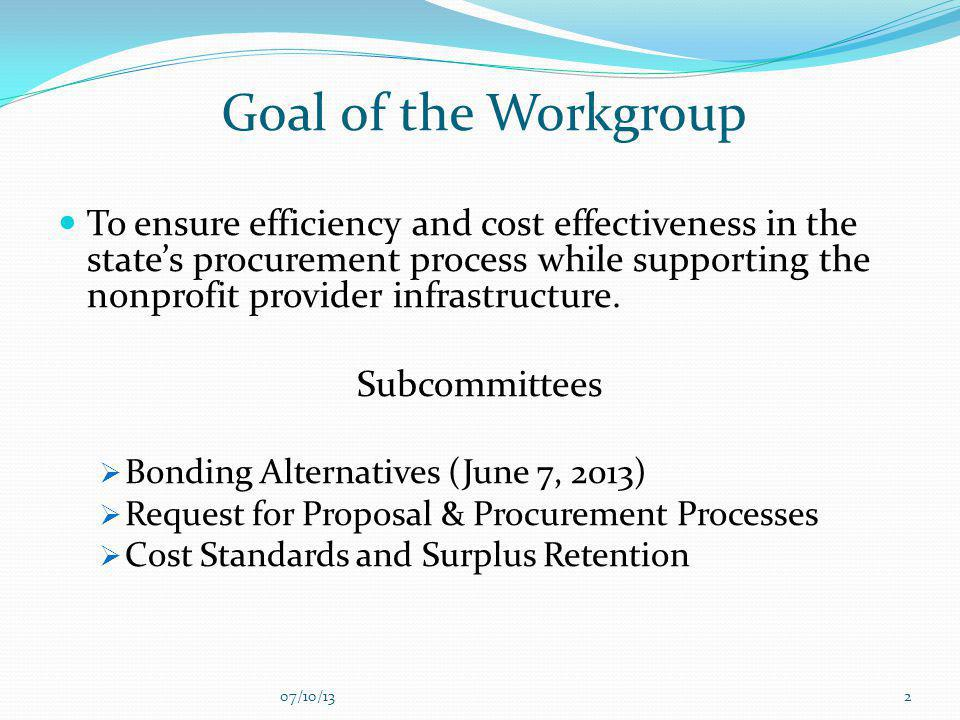 Goal of the Workgroup