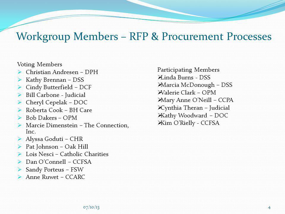 Workgroup Members – RFP & Procurement Processes