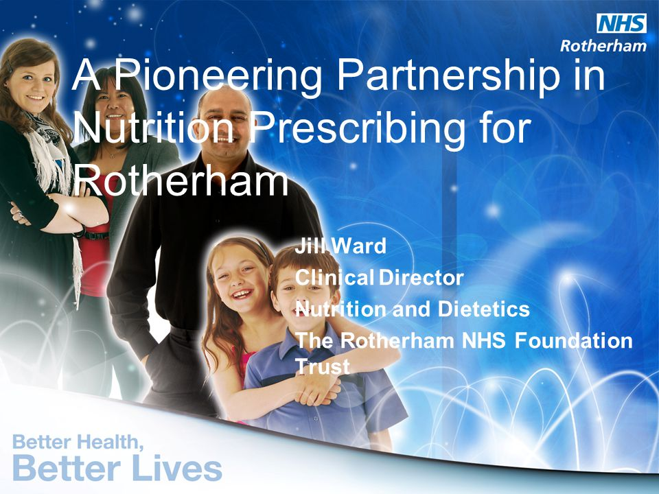 A Pioneering Partnership in Nutrition Prescribing for Rotherham