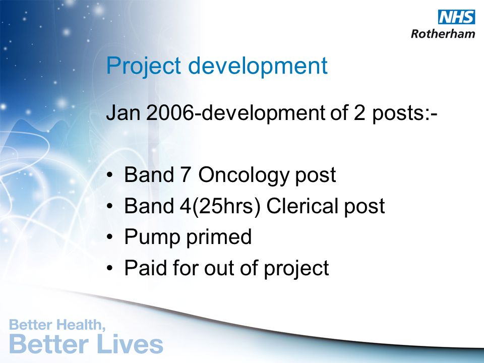 Project development Jan 2006-development of 2 posts:-