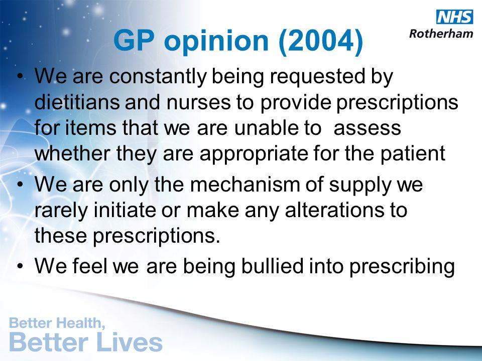 GP opinion (2004)