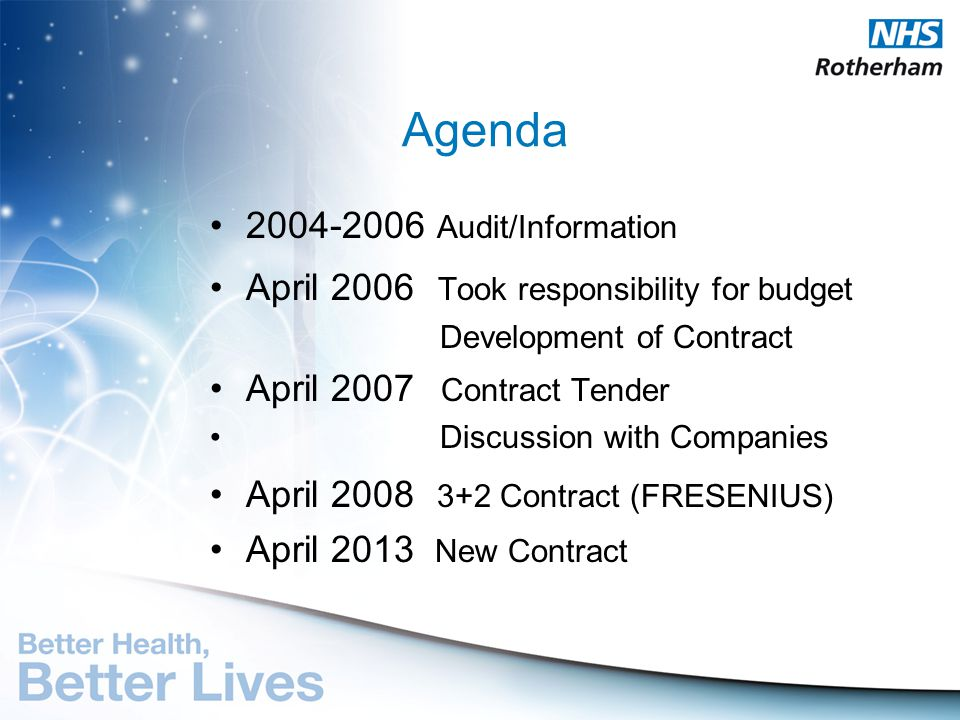 Agenda 2004-2006 Audit/Information