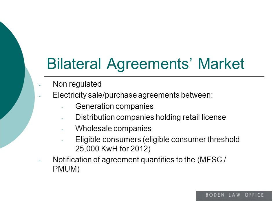 Bilateral Agreements' Market