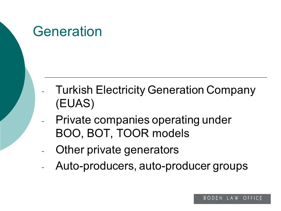 Generation Turkish Electricity Generation Company (EUAS)