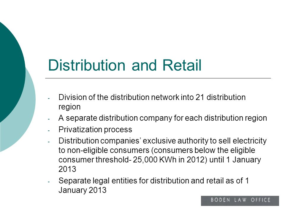 Distribution and Retail