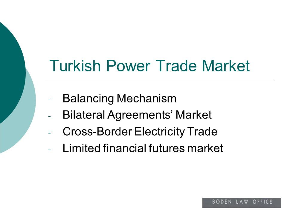 Turkish Power Trade Market