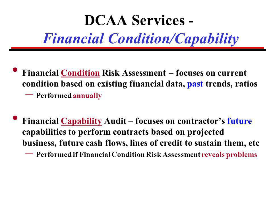 DCAA Services - Financial Condition/Capability