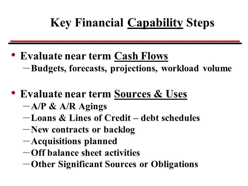 Key Financial Capability Steps