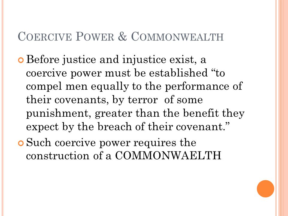 Coercive Power & Commonwealth