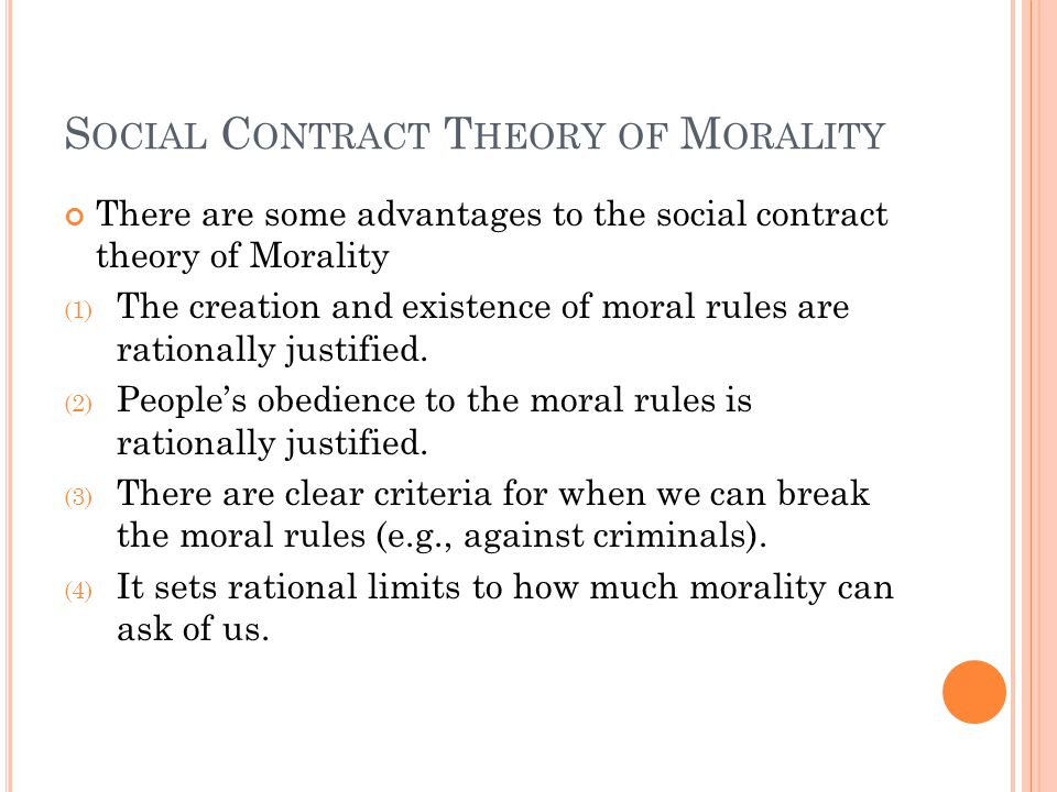 Social Contract Theory of Morality