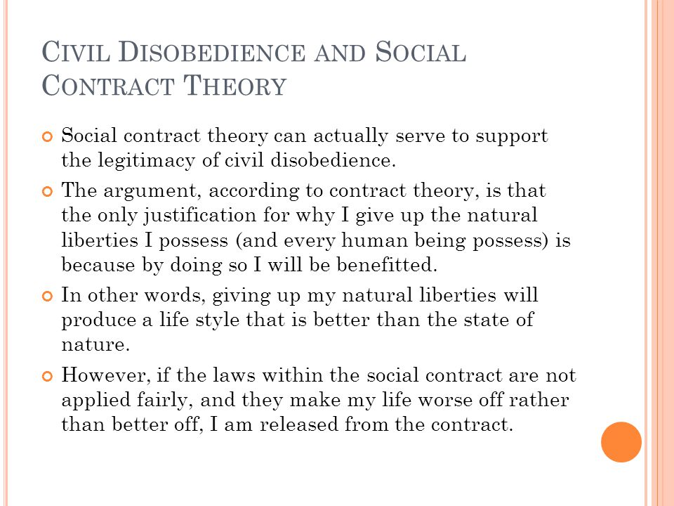 Civil Disobedience and Social Contract Theory