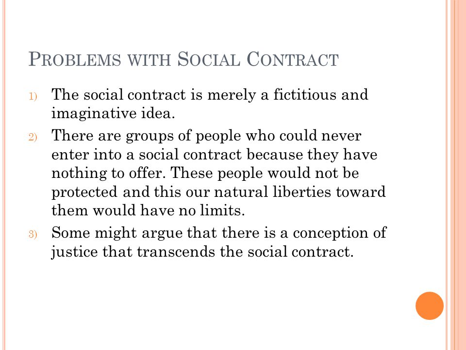 Problems with Social Contract