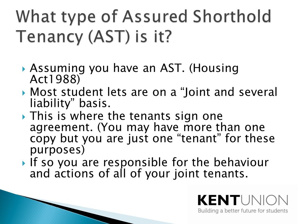 What type of Assured Shorthold Tenancy (AST) is it