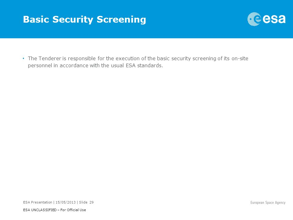 Basic Security Screening