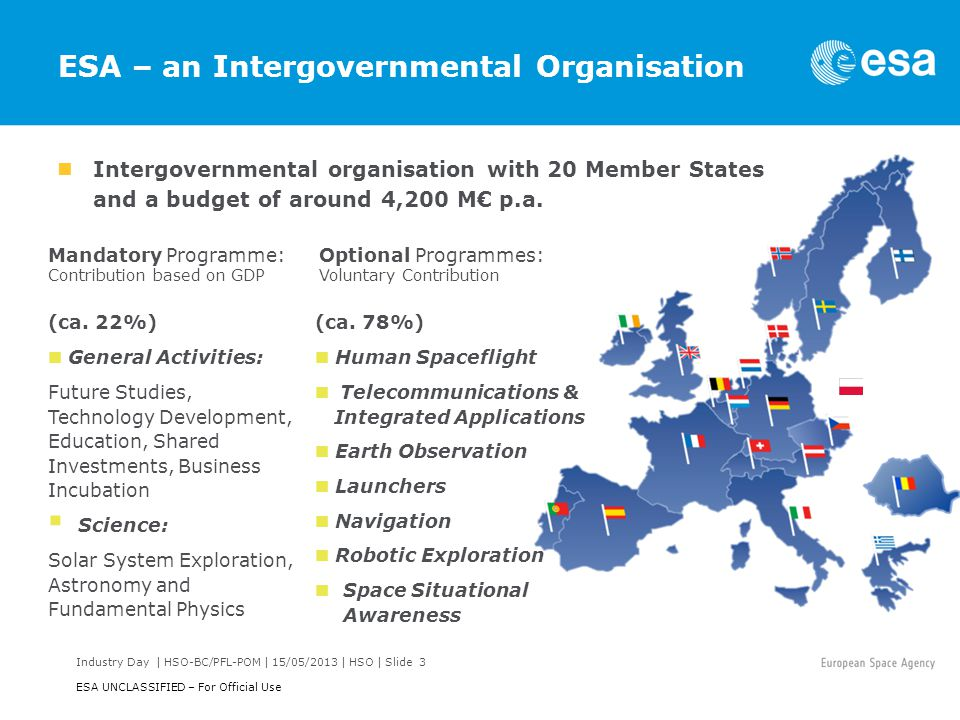 ESA – an Intergovernmental Organisation