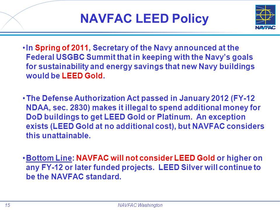 NAVFAC LEED Policy