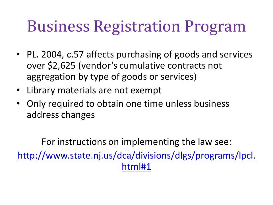 Business Registration Program
