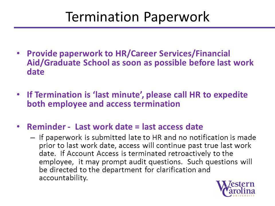 Termination Paperwork