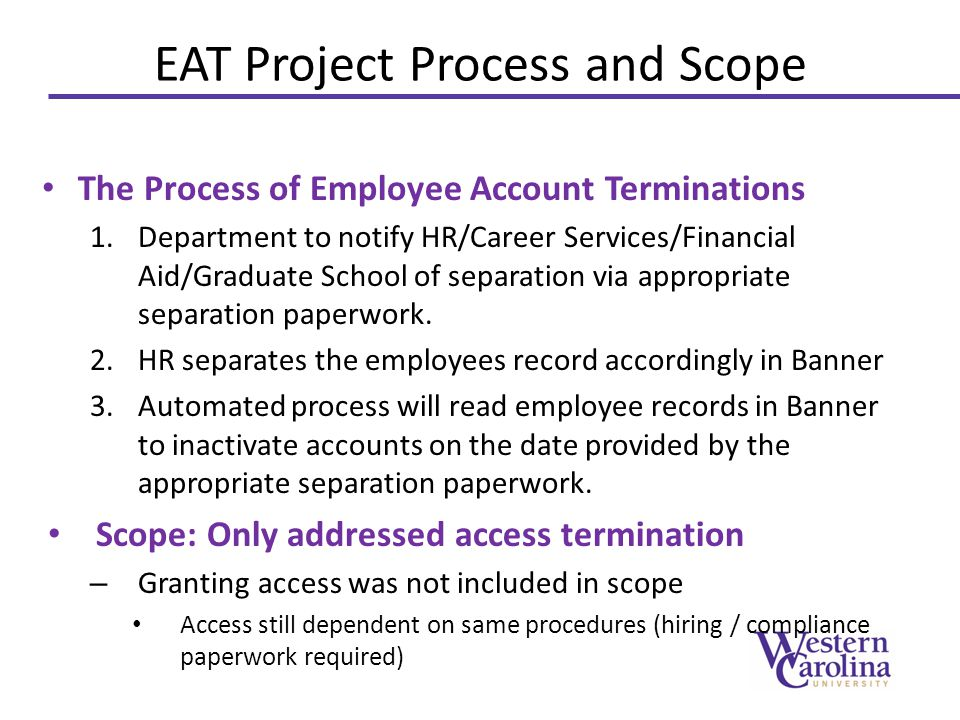EAT Project Process and Scope