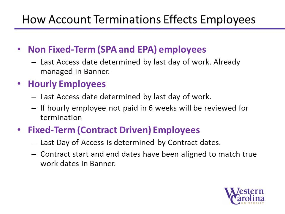 How Account Terminations Effects Employees