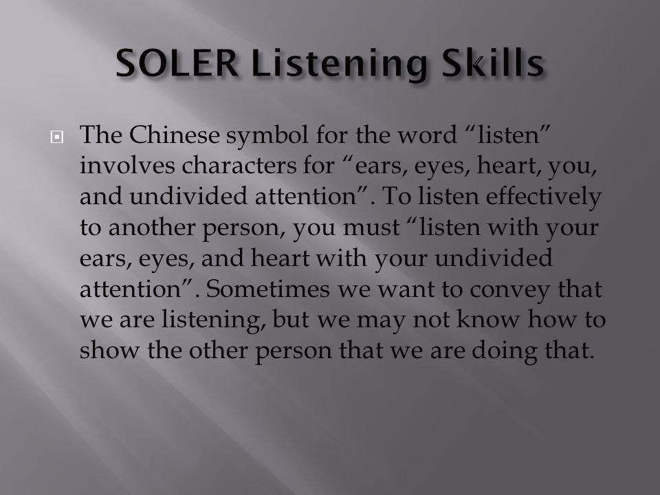 SOLER Listening Skills