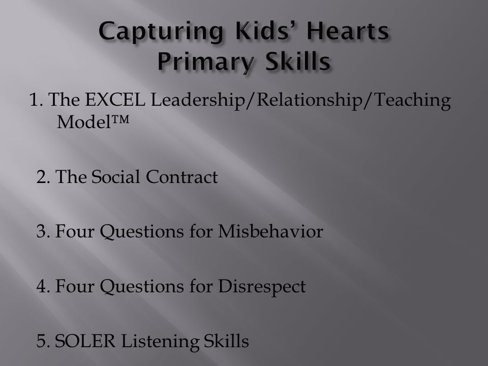 Capturing Kids' Hearts Primary Skills