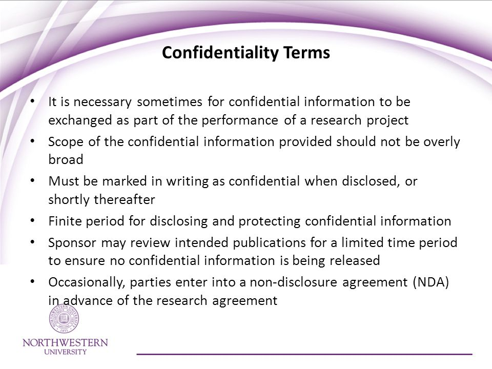 Confidentiality Terms