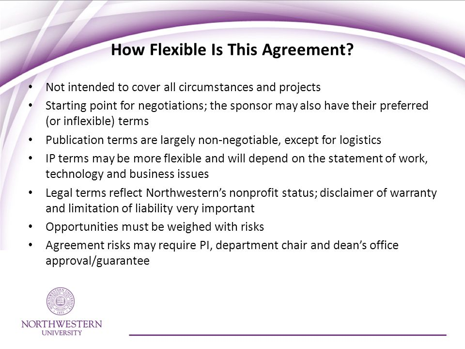 How Flexible Is This Agreement
