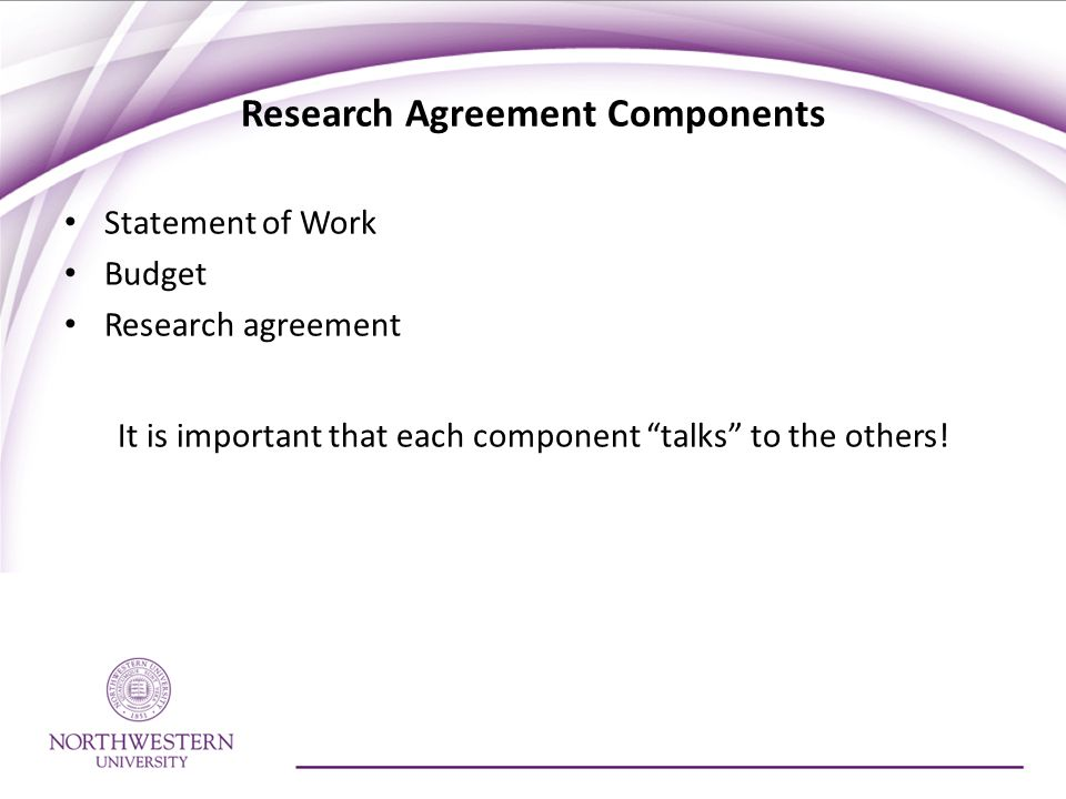 Research Agreement Components