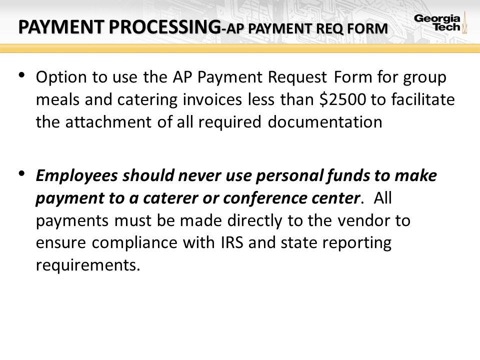Payment processing-AP PAYMENT req form