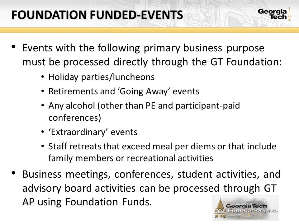 Foundation funded-events