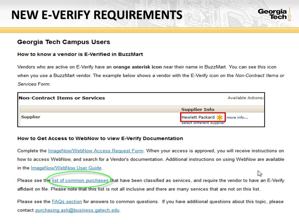 NEW E-VERIFY REQUIREMENTS