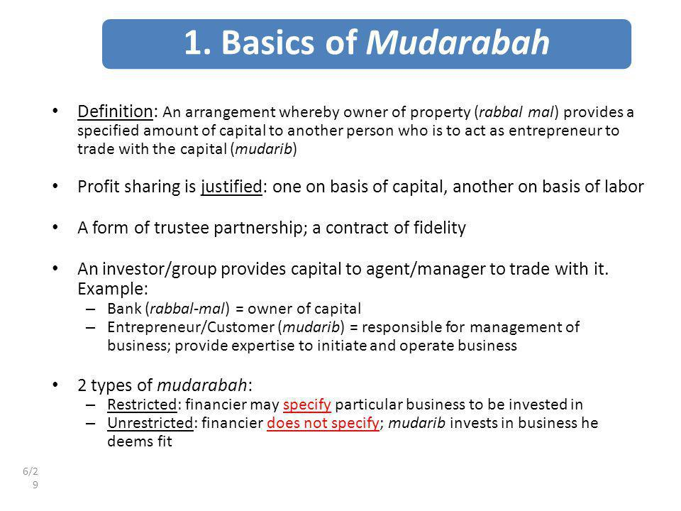 1. Basics of Mudarabah